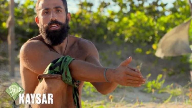 Kaysar foi o eliminado da semana passada de No Limite (imagem: Reprodução)
