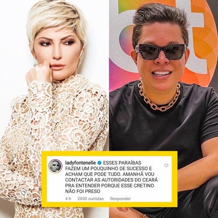 Foto de Antônia Fontenelle, DJ Ivis e o comentário dela.