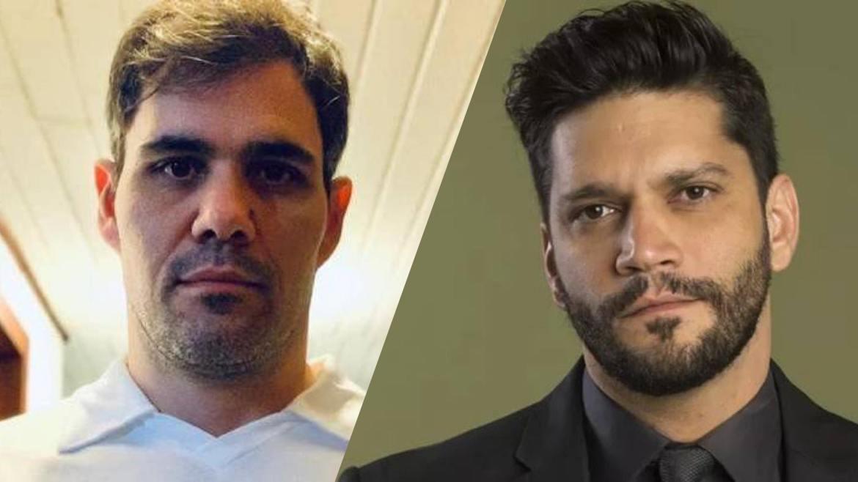 Armando Babaioff (direita) faz publicação e cutuca Juliano Cazarré (à esquerda) na Globo. Fonte: Montagem/ Fashion Bubbles