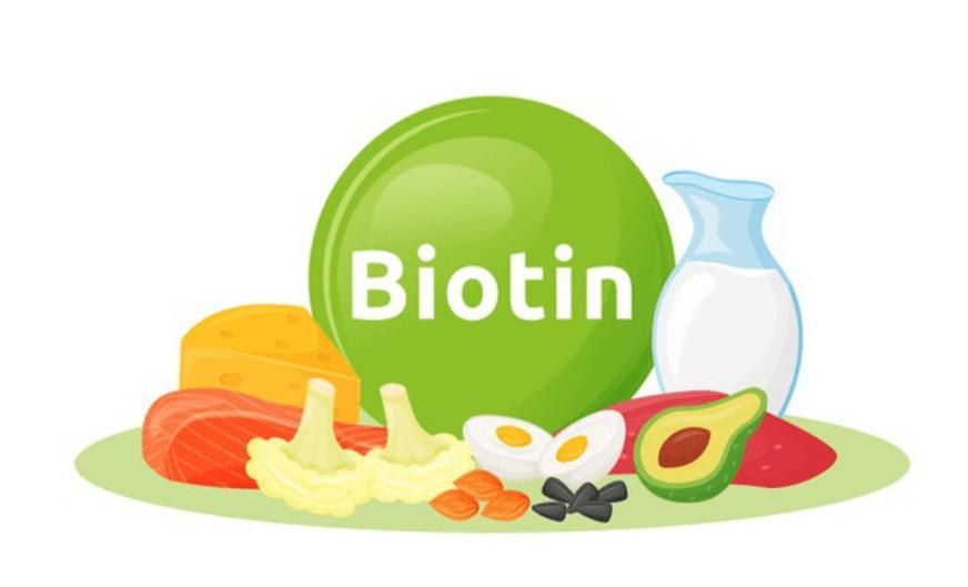 imagem ilustrativa de alimentos com biotina