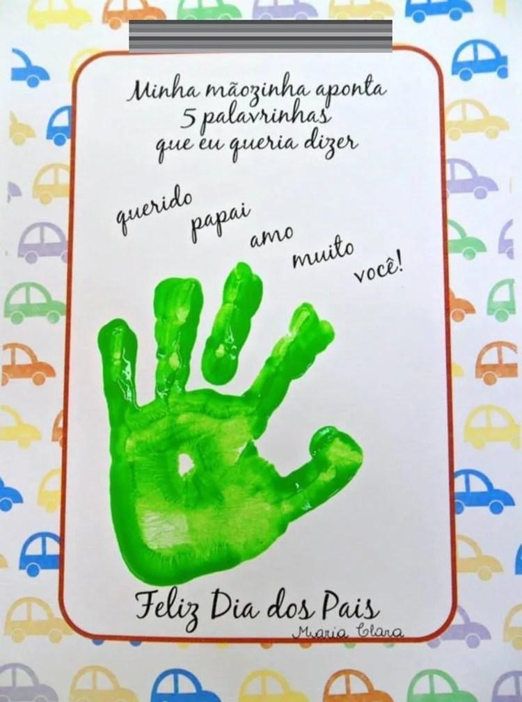 Foto de cartão para o Dia dos Pais.