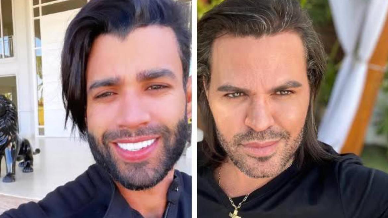 Gusttavo Lima deixa os cabelos crescerem que é comparado com Eduardo Costa. Fonte: Redes Sociais
