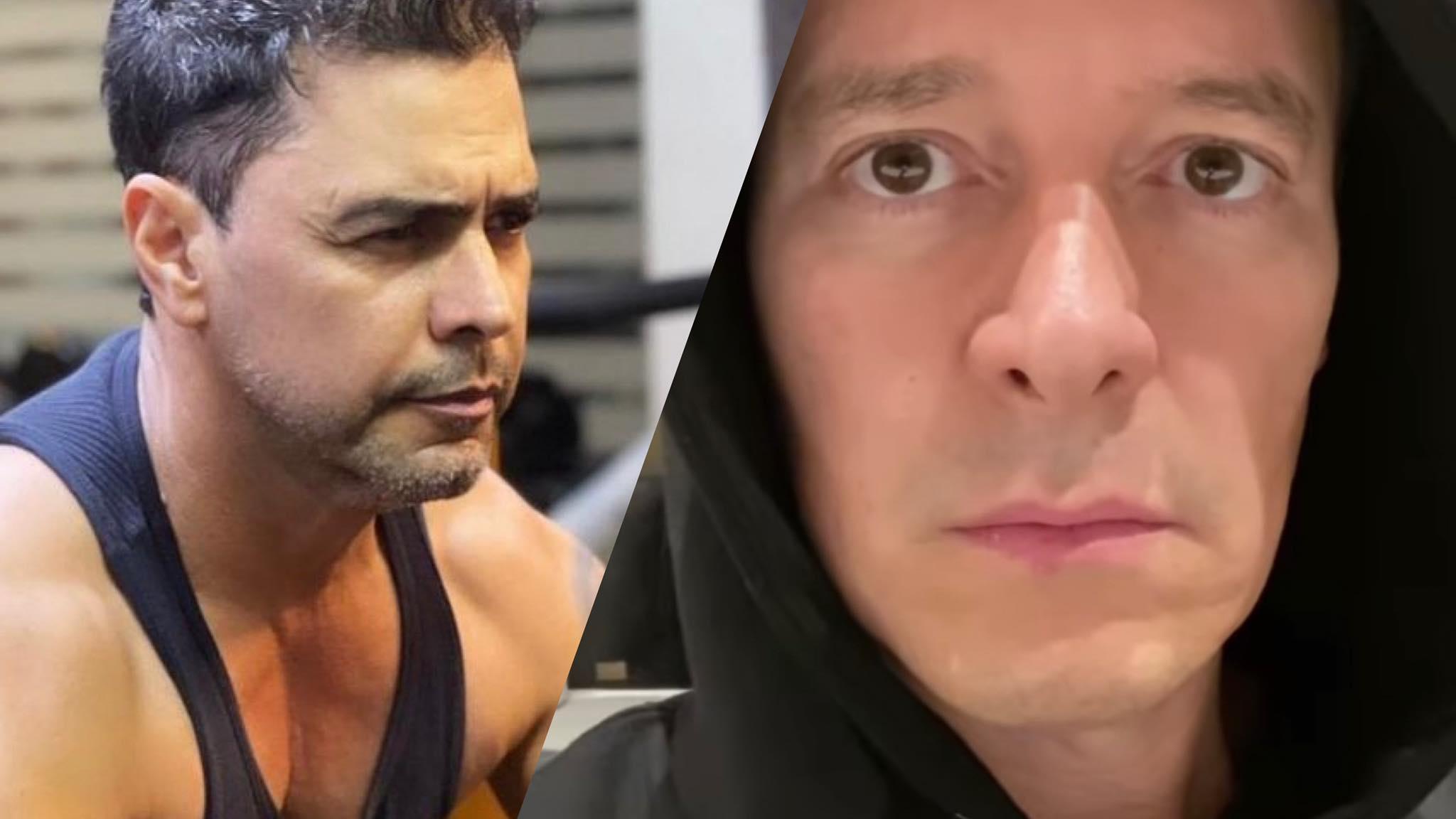 Rodrigo Faro dá resposta atravessada após comentário de Zezé Di Camargo nas redes sociais (montagem: Fashion Bubbles)