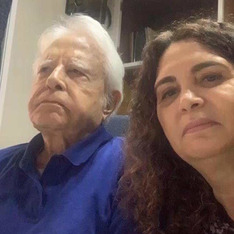 Foto de Cid Moreira e sua esposa, Fátima Sampaio.