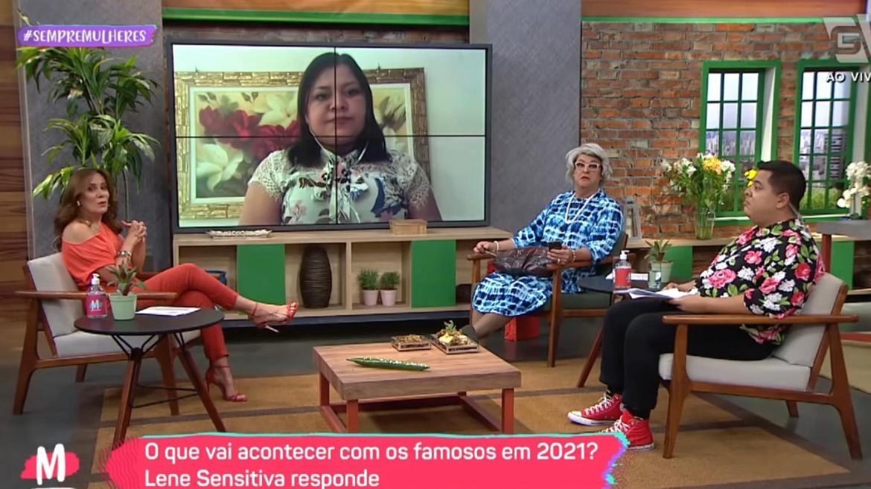 Lene Sensitiva participa do Mulheres e fala sobre Faustão e Huck (imagem: reprodução/ Gazeta)
