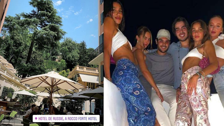 João Guilherme viajou com os amigos para França, Itália e Grécia. Fonte: Instagram