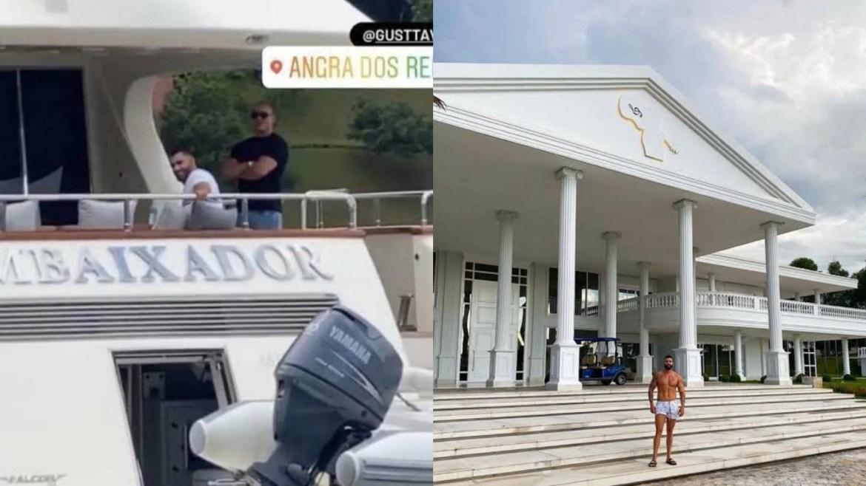Gusttavo Lima é proprietário de uma mansão de R$ 30 milhões e um iate que já foi do Roberto Carlos. Fonte: Instagram