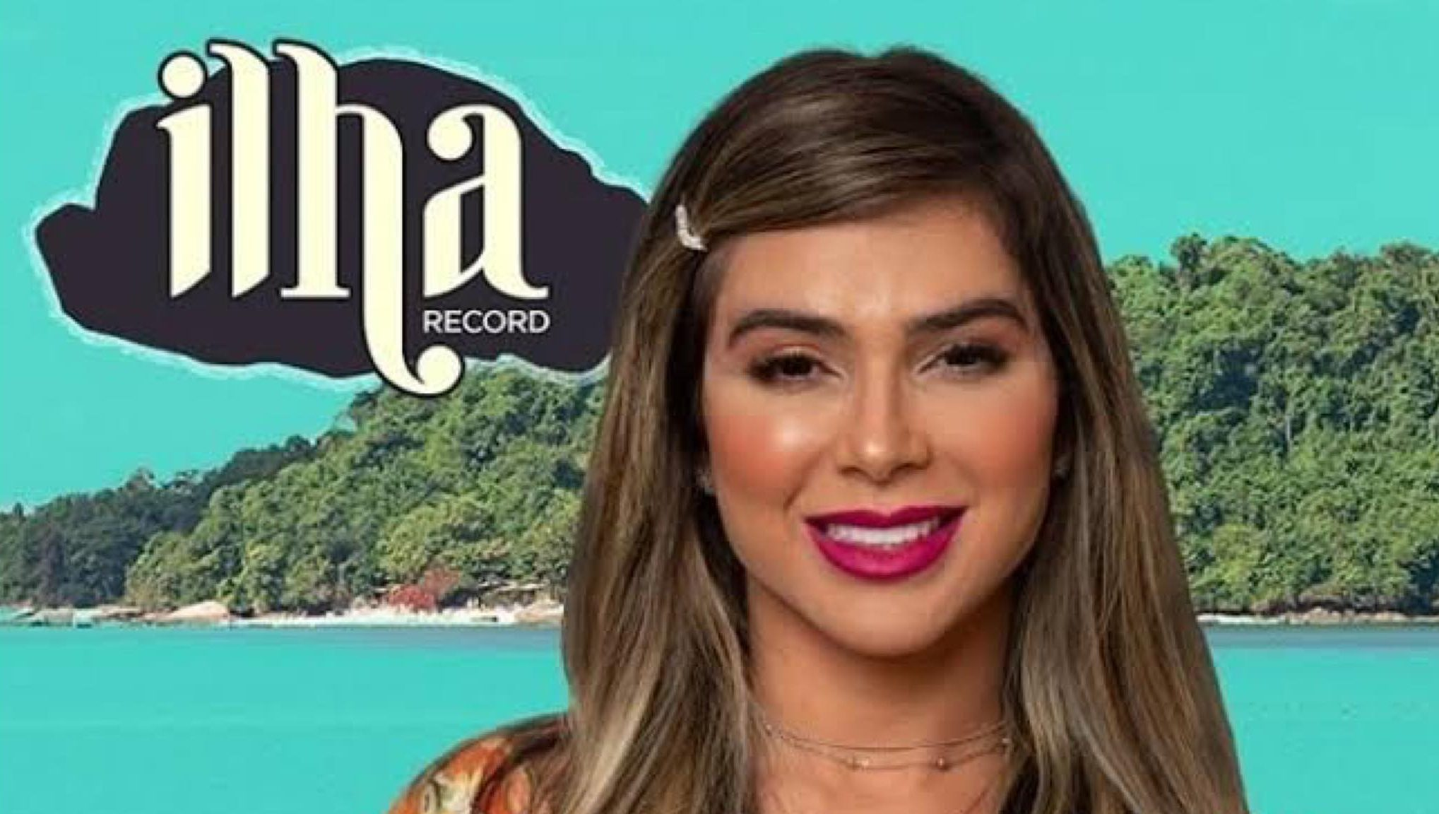 Nadja Pessoa é a aposta da emissora para colocar fogo no Ilha Record. Fonte: Divulgação