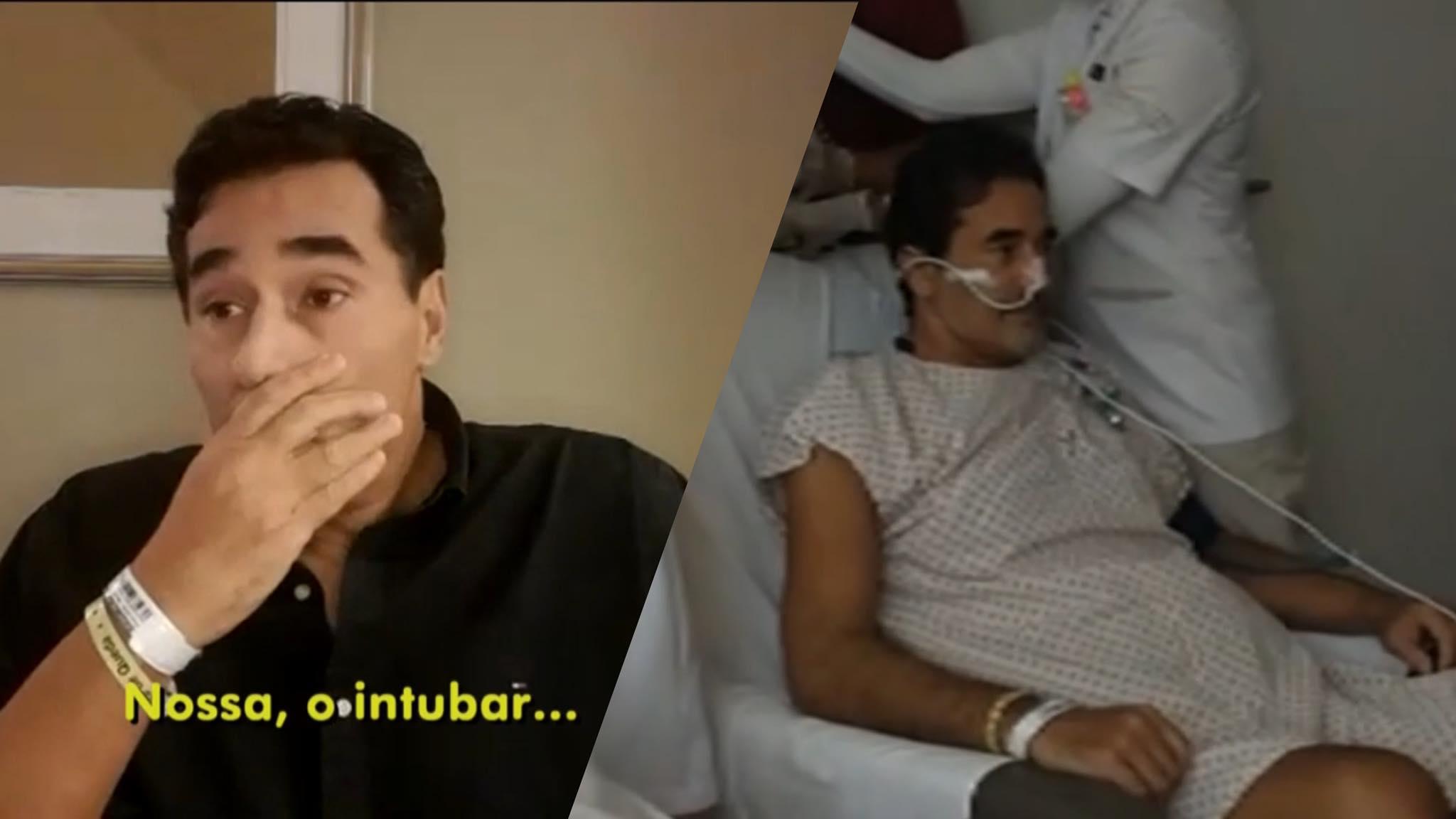 Luciano Szafir ficou 32 dias internado e passou por 2 cirurgias de emergência. Fonte: Reprodução/Globo