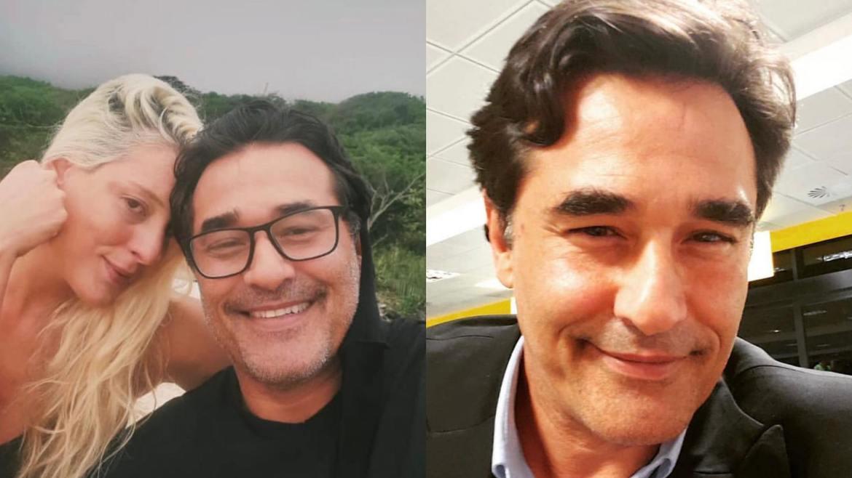 Luhanna Melloni disse que Luciano Szafir tomaria a vacina no dia seguinte após ser diagnosticado com Covid-19 (montagem: Fashion Bubbles)