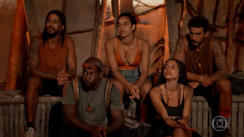 A Tribo Carcará decide eliminar Gui Napolitano de No Limite (imagem: reprodução/ Globo)