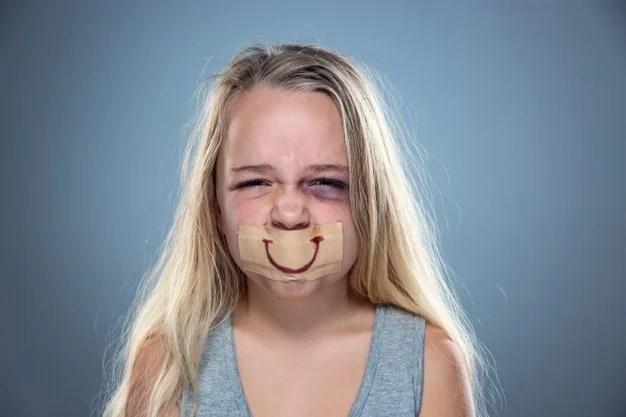 criança agredida