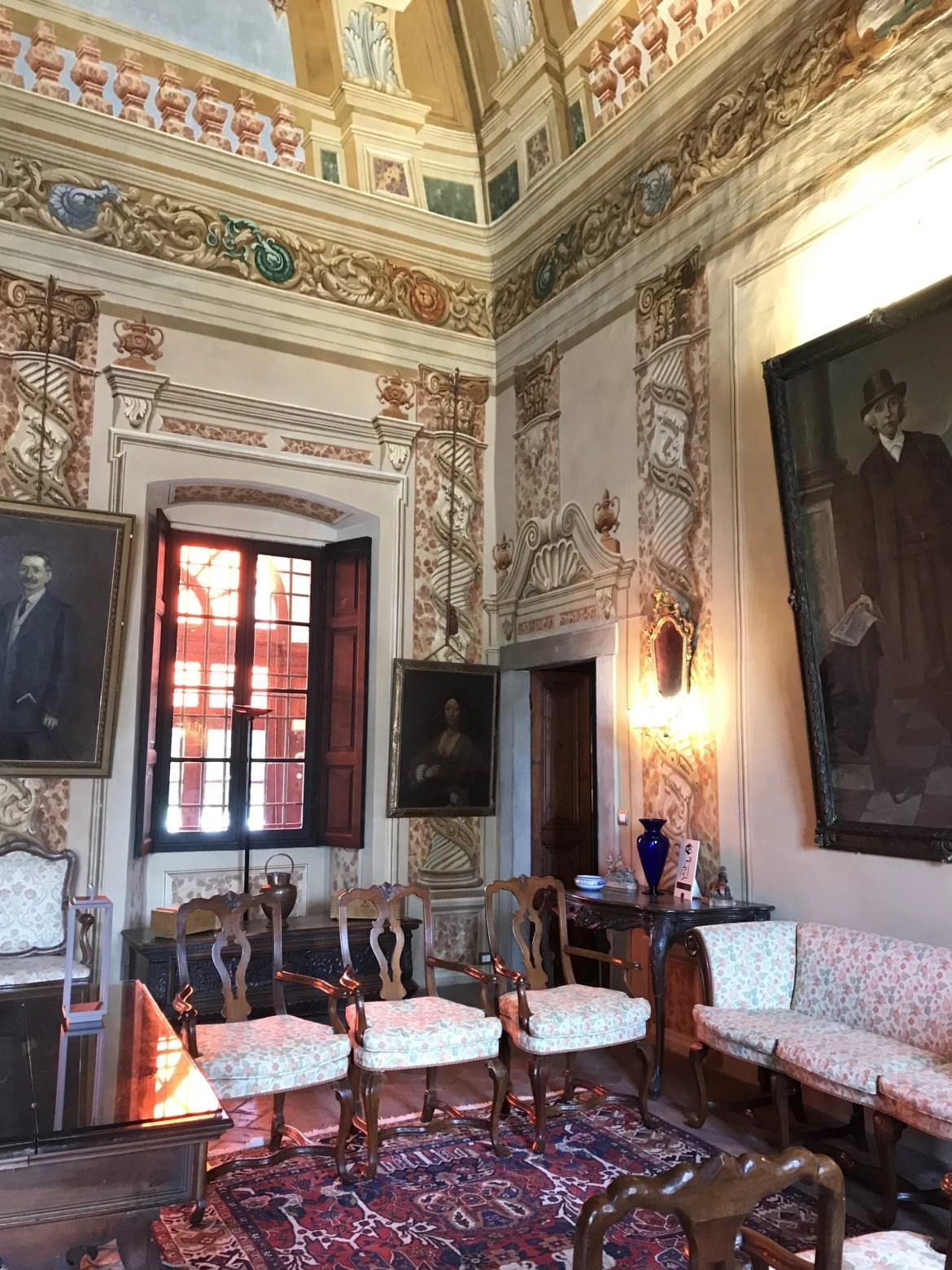 Sala do Palazzo Lana nas instalações da Vinícola Berlucchi