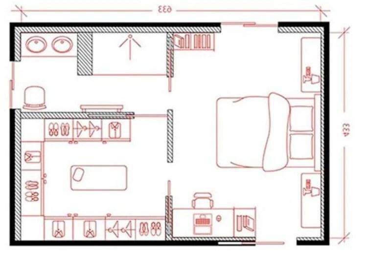 Ambiente com duas portas.