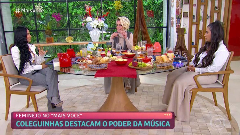 Ana Maria Braga pergunta sobre marido de Simaria, uma semana após a cantora anunciar o divórsio. Fonte: Reprodução