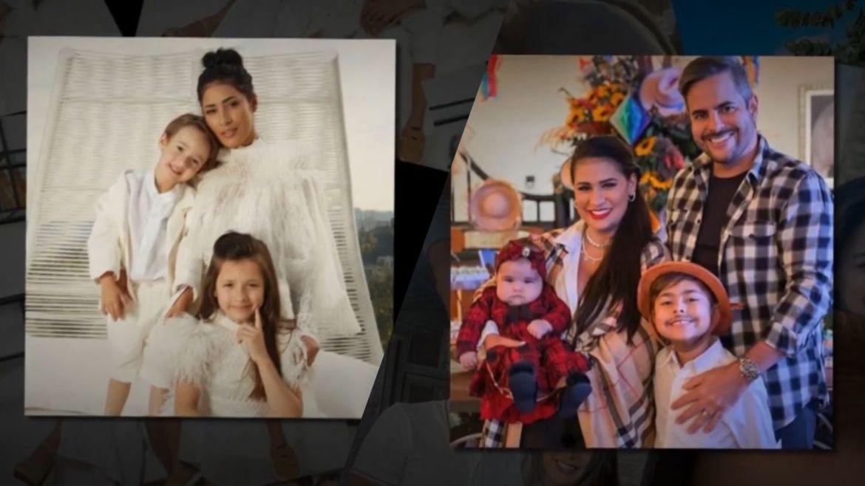 Produção do Mais Você separou imagens de Simone com marido e os filhos e Simaria com os filhos. Fonte Reprodução