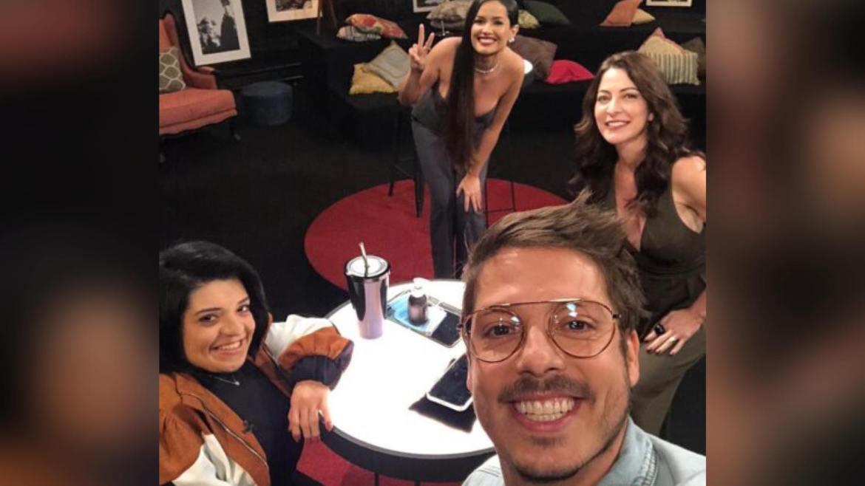 Ana Paula Padrão com Porchat, Pequena Elo e Juliette Freire. Fonte: Instagram