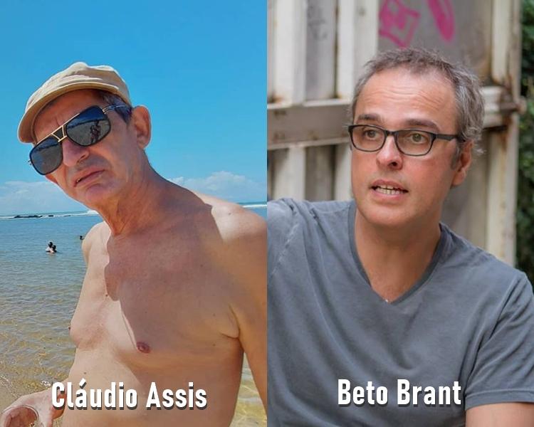 Fotos de Cláudio Assis e Beto Brant, do filme