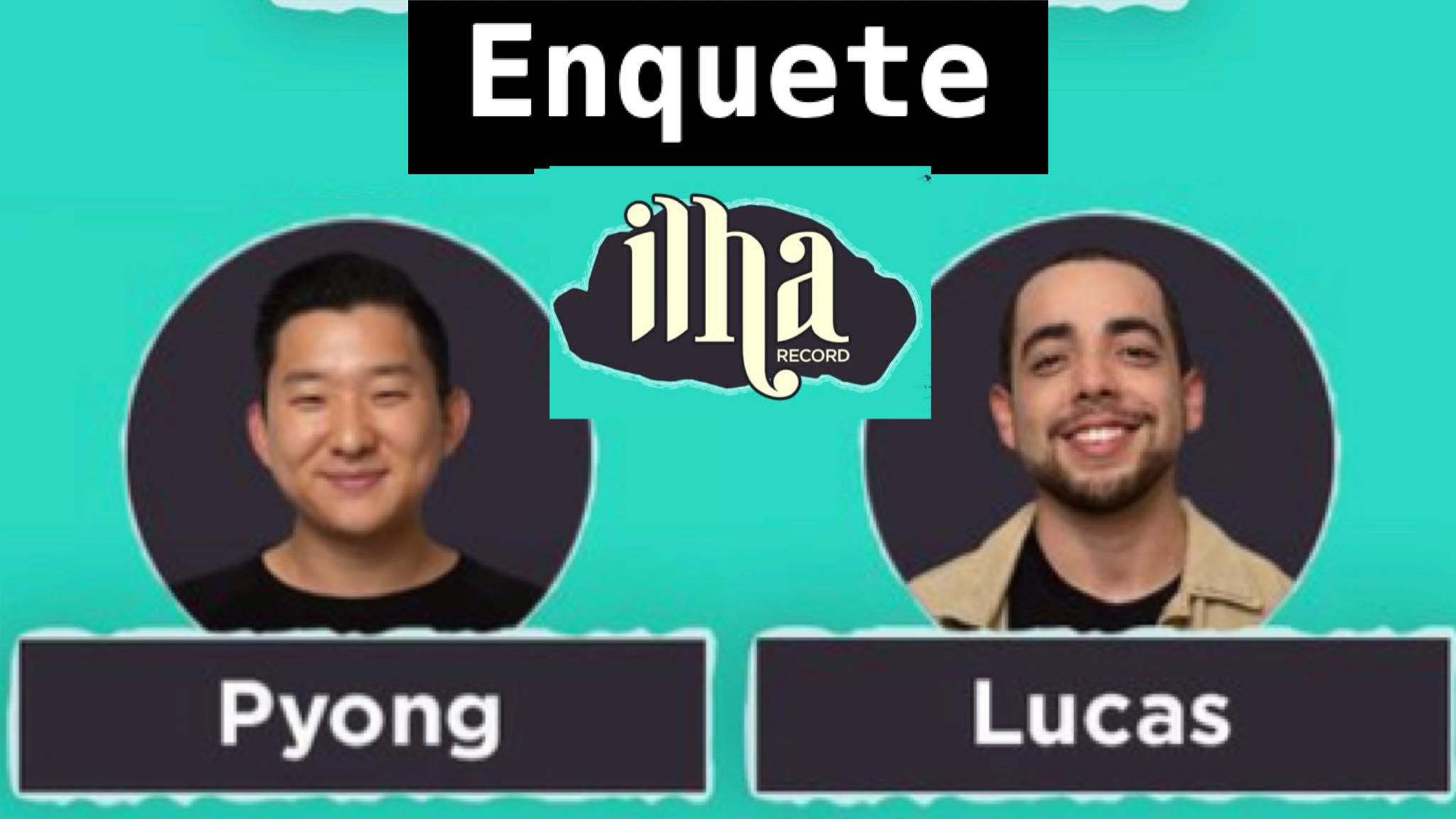 Lucas Selfie e Pyong Lee disputarão a prova da Área de Risco nessa quinta-feira (05/08). Fonte: Montagem/ Fashion Bubbles