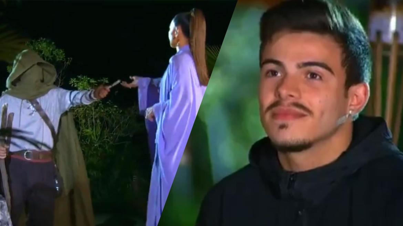 Thomaz Costa, mesmo líder do Esmeralda, foi indicado pelos exilados e está no Desafio de Sobrevivência do Ilha Record. Fonte: Montagem/ Fashion Bubbles