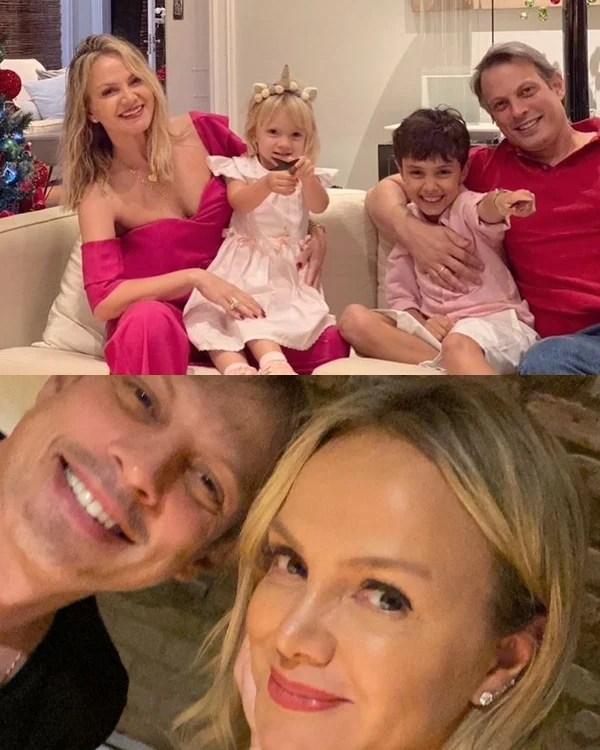 Foto da família da apresentadora.