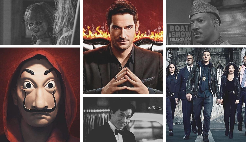 Fotos de séries e filmes da Netflix.