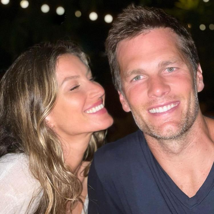 Foto de Gisele Bündchen e Tom Brady.