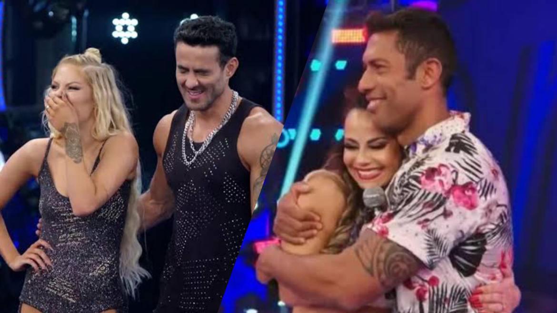 Luísa Sonza com Leo Santos no Dança dos Famosos em 2019 e Viviane Araújo com  Rodrigo Oliveira. Fonte: Montagem/ Fashion Bubbles