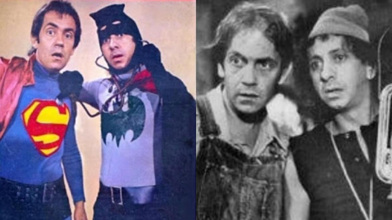 Paulo e Flávio Migliaccio no sucesso Shazan e Xerife em 1972. Fonte: Instagram