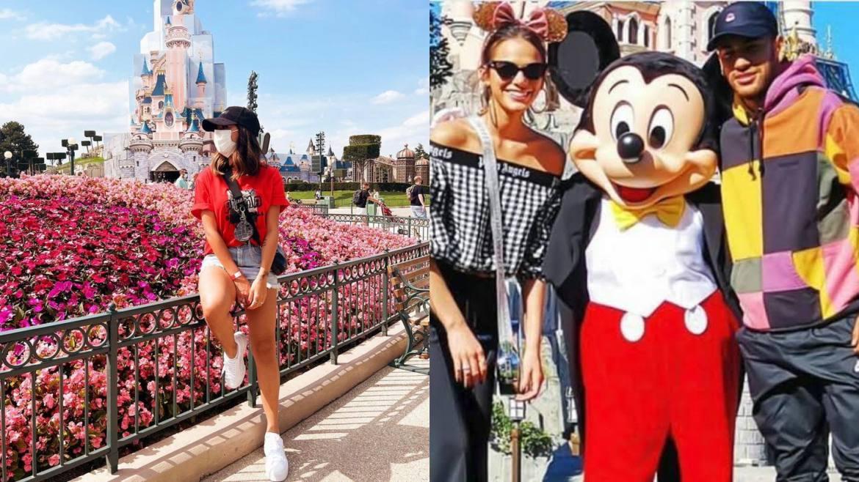 Neymar também levou Bianca Biancardi para passear na Disney de Paris, bem como fez o mesmo passeio com Marquezine (quando namoravam). Fonte: Montagem/ Fashion Bubbles