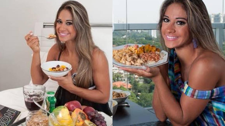 Mayra Cardi, ao contrário de Neymar e João Guilherme, admite que gasta bem em supermercado. Fonte: Montagem/ Fashion Bubbles