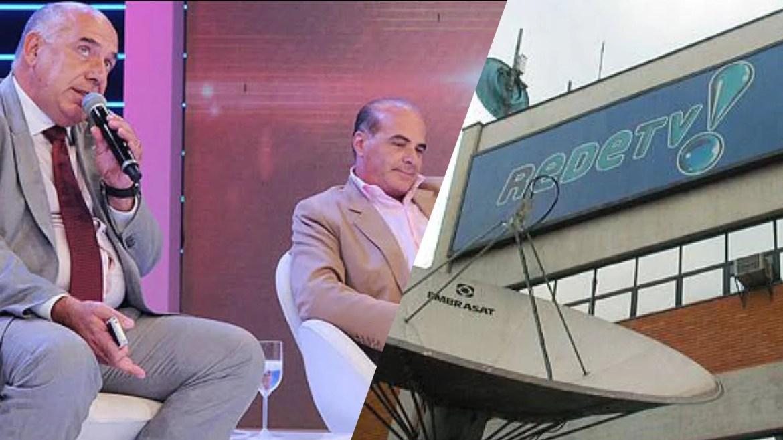 Amílcare Dallevo Júnior e Marcelo de Carvalho são sócios da emissora. Fonte: Reprodução