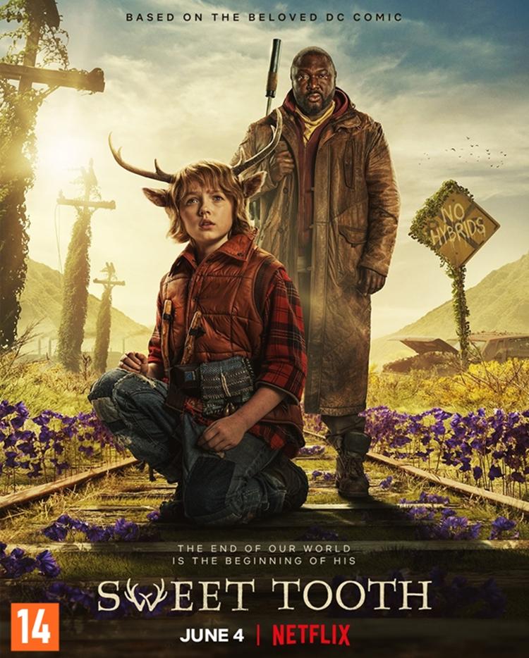 """Foto do cartaz de """"Sweet Tooth"""", tops séries e filmes com seres místicos da Netflix."""