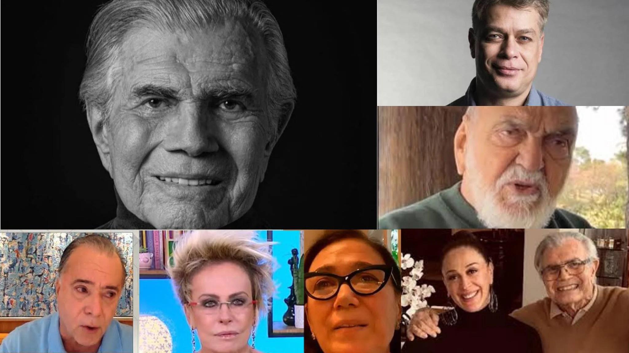 Famosos lamentam a morte de Tarcísio Meira, aos 85 anos. Fonte: Montagem/ Fashion Bubble