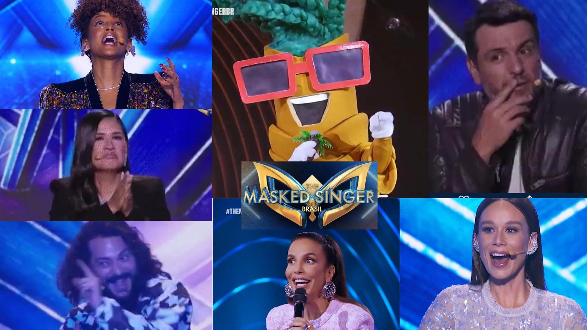 Identidade do Coqueiro surpreende a todos no The Masked Singer Brasil. Fonte: Montagem/Fashion Bubbles