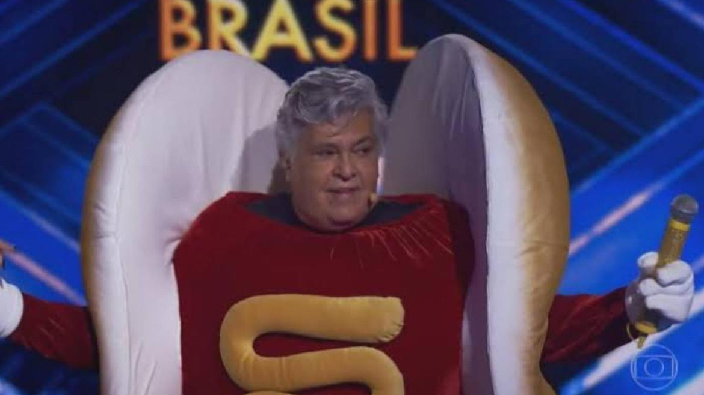 Sidney Magal chora ao ser eliminado do Masked Singer Brasil. Fonte: Reprodução