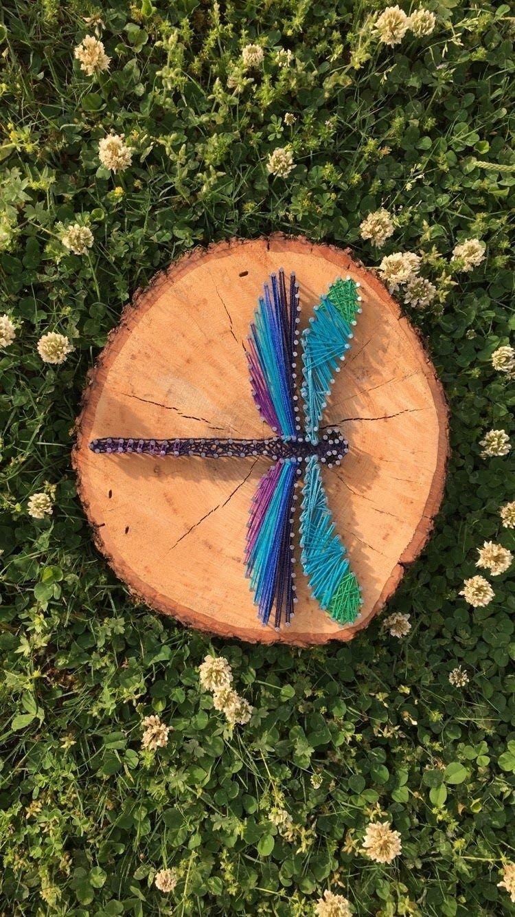 Foto de string art de libélula