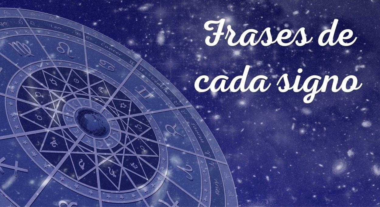 """Foto de mandala com símbolos do zodíaco em céu estrelado com os dizeres """"frases de cada signo"""""""
