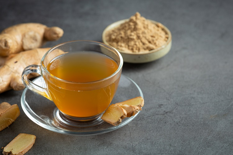 Foto de chá de gengibre para perder peso