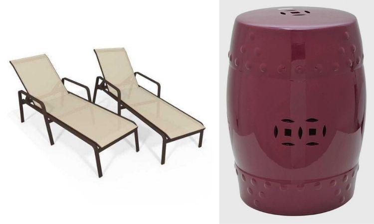 Montagem com foto de móveis da decoração A Fazenda 13