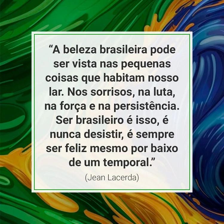 mensagem de Independência do Brasil sobre bandeira