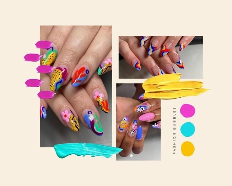 Foto de decoração de manicure abstrata.
