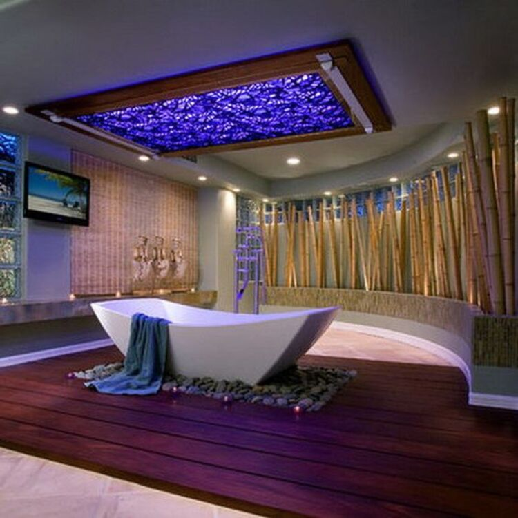 Decoração com bambu.