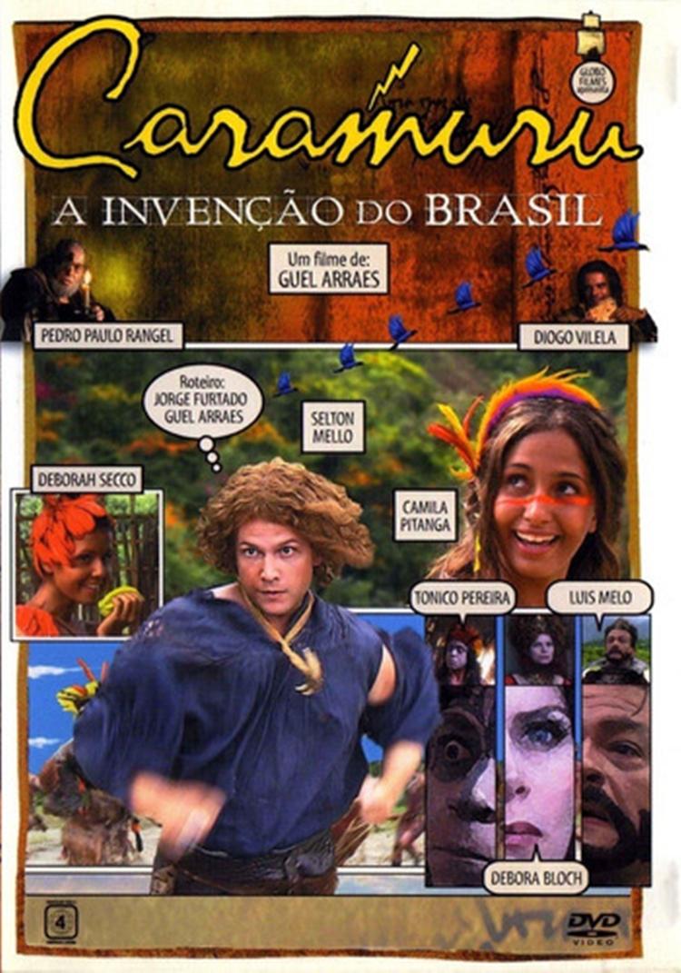 """Foto da capa do filme """"Caramuru — A invenção do Brasil""""."""