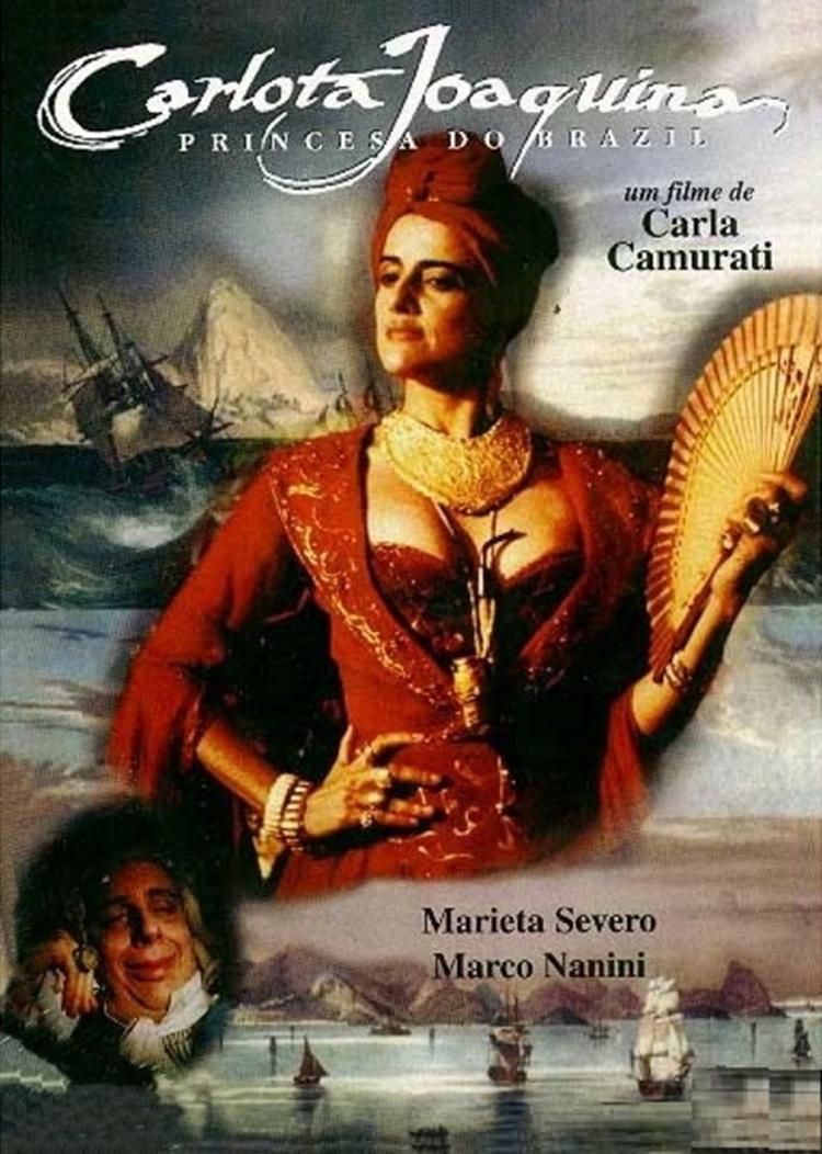 "Foto da capa do filem ""Carlota Joaquina: Princesa do Brasil""."
