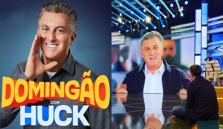 """Foto de Luciano Huck no """"Domingão com Huck""""."""