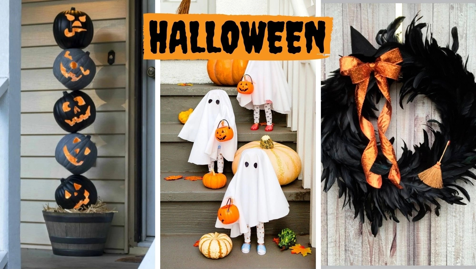Foto decoração portas Halloween.