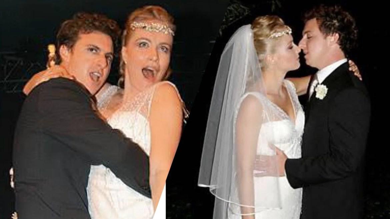 Angélica e Luciano Huck casando