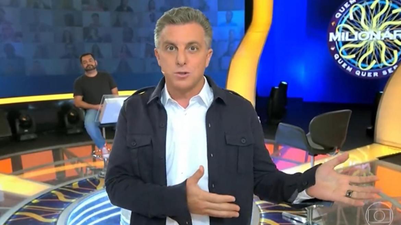 Luciano gravou quadro do Domingão chamando partida entre Brasil e Argentina de jogaço. Fonte: Reprodução/ TV Globo