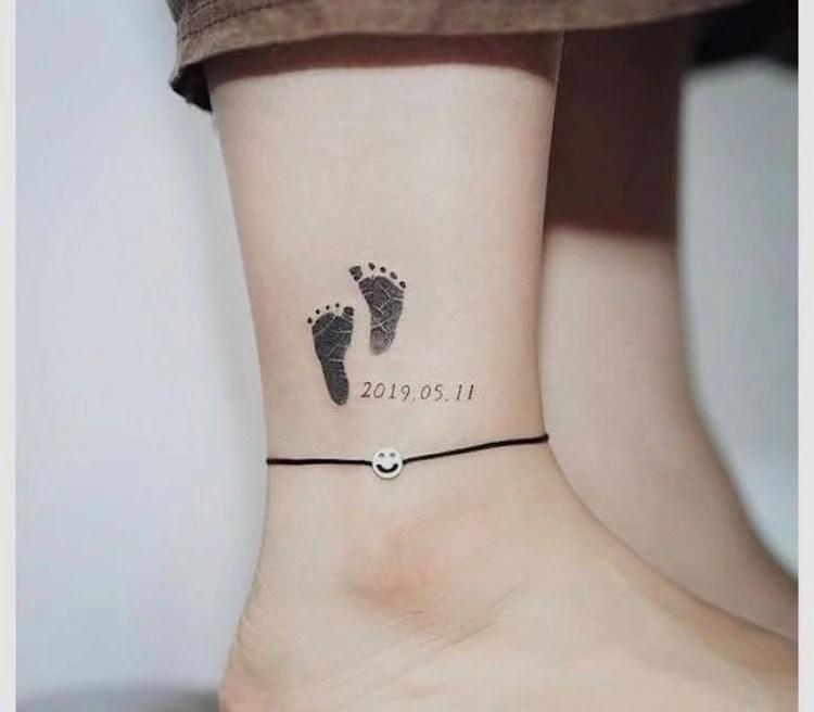 Tatuagem em homenagem a filho